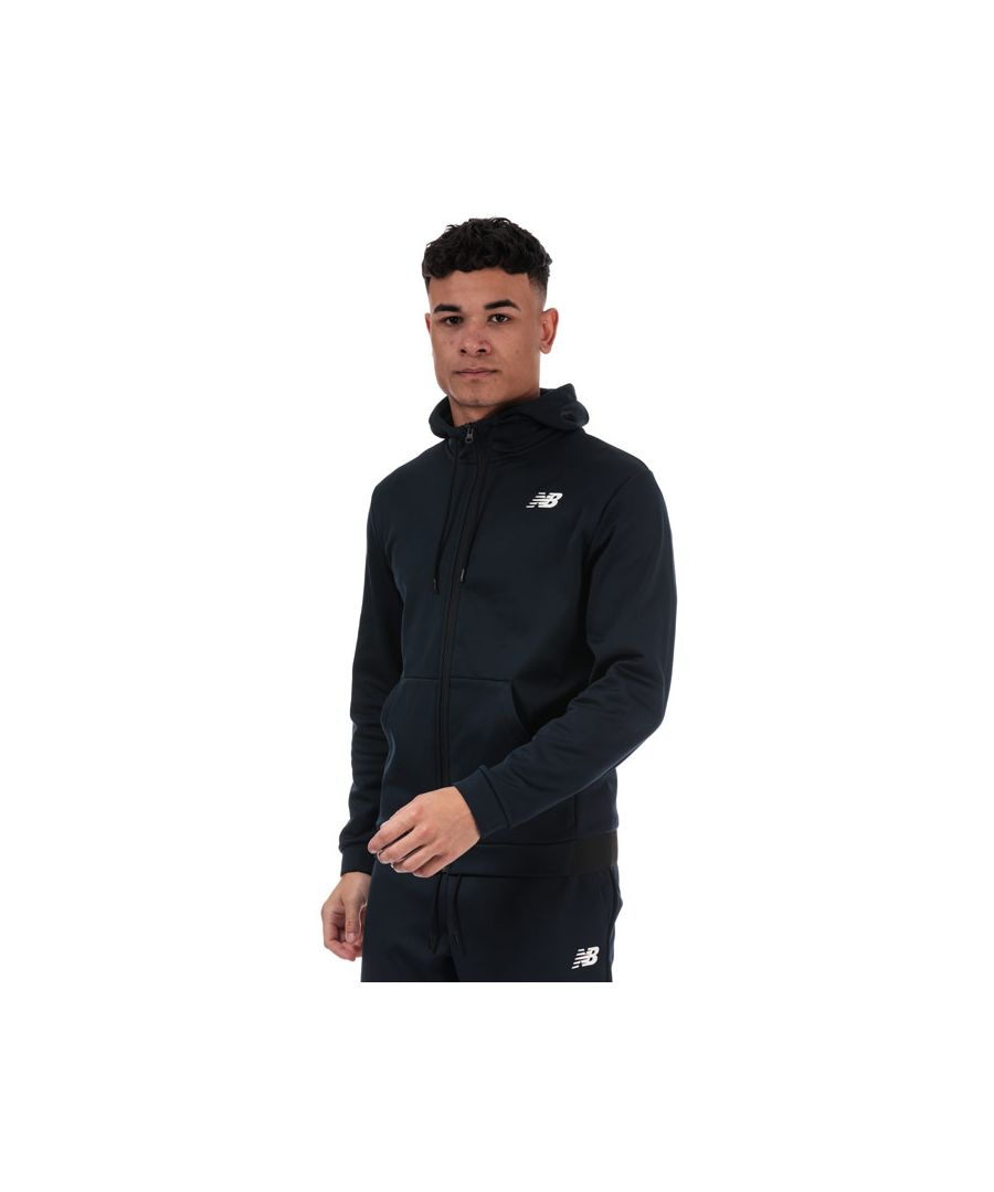 Image for Men's New Balance Fleece Zip Hoody in Navy