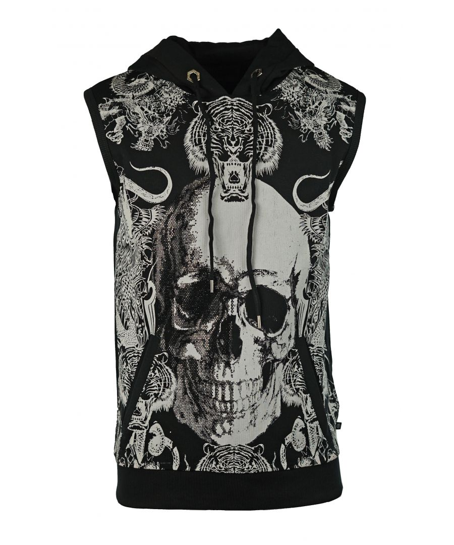 Image for Philipp Plein MJC0008 Snakes 0201 Hoodie Vest