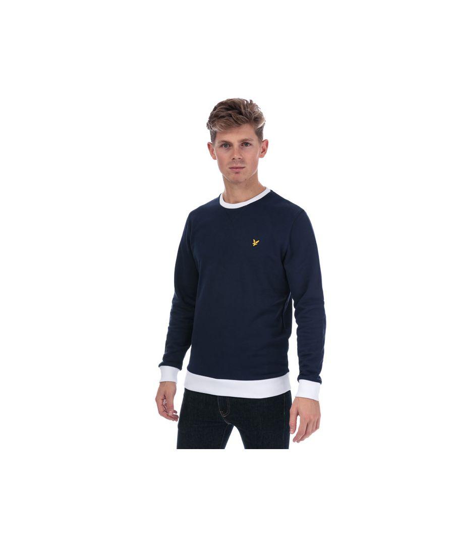 Image for Men's Lyle And Scott Contrast Sweatshirt in Navy