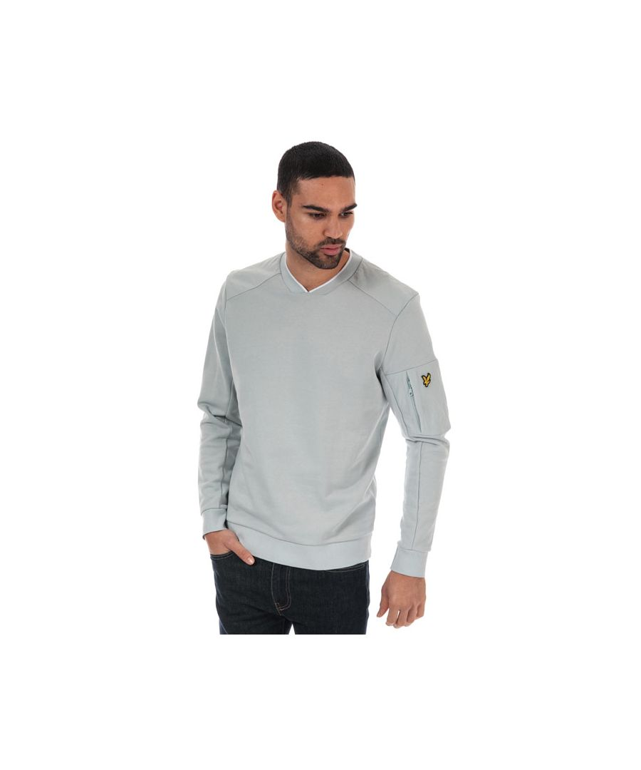 Image for Men's Lyle And Scott Nylon Panel Sweatshirt in Silver