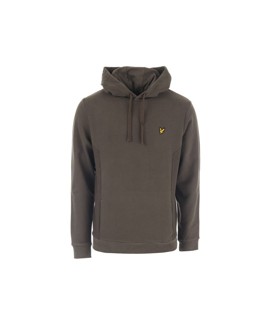 Image for Men's Lyle And Scott Panelled Hoody in Green