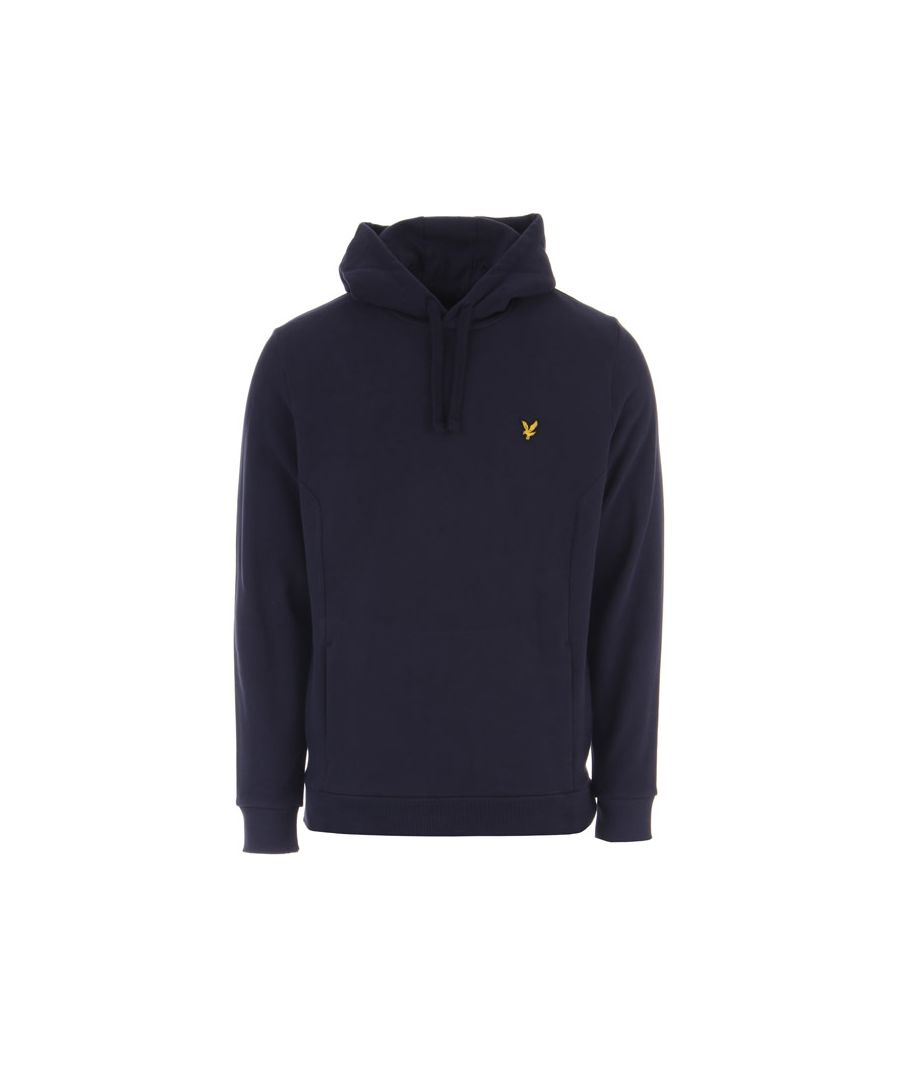 Image for Men's Lyle And Scott Panelled Hoody in Navy