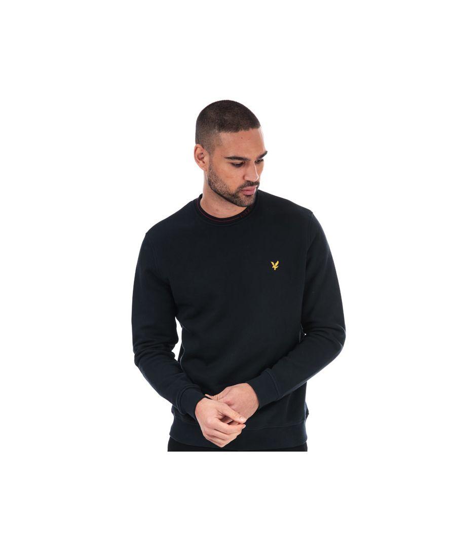 Image for Men's Lyle And Scott Branded Ringer Sweatshirt in Black