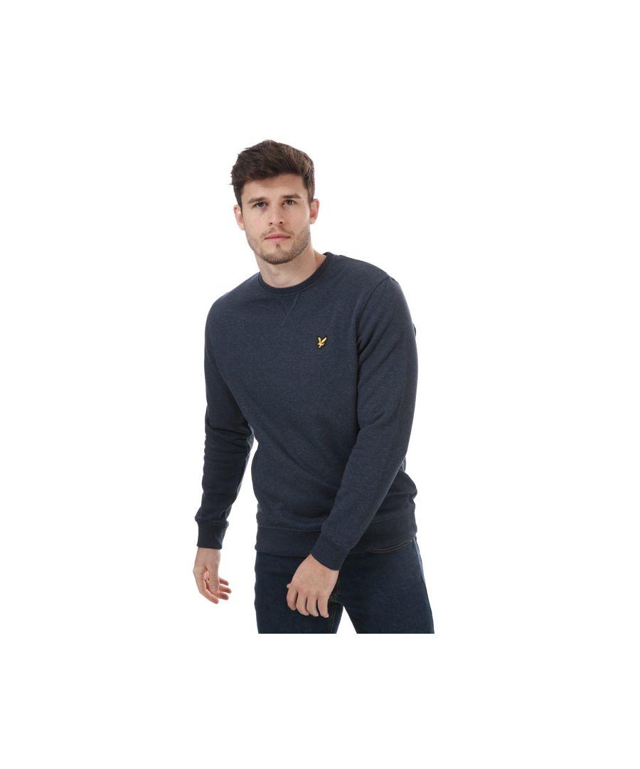 Image for Men's Lyle And Scott Crew Neck Sweatshirt in Navy