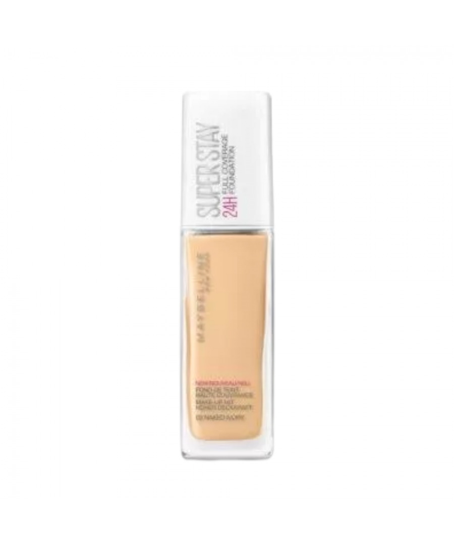Image for Maybelline Superstay24HR Full Coverage Foundation 30ml - 02 Naked Ivory