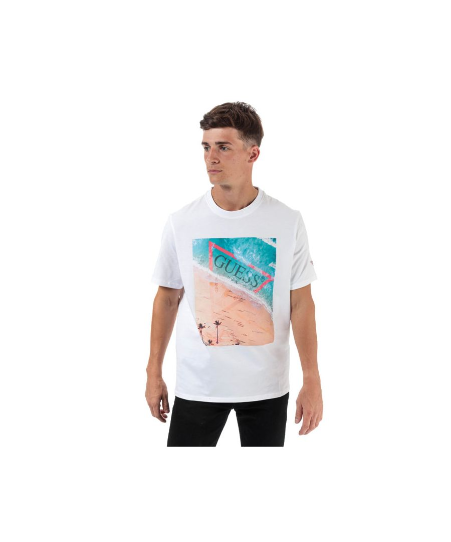 Image for Men's Guess Waterline T-Shirt in White