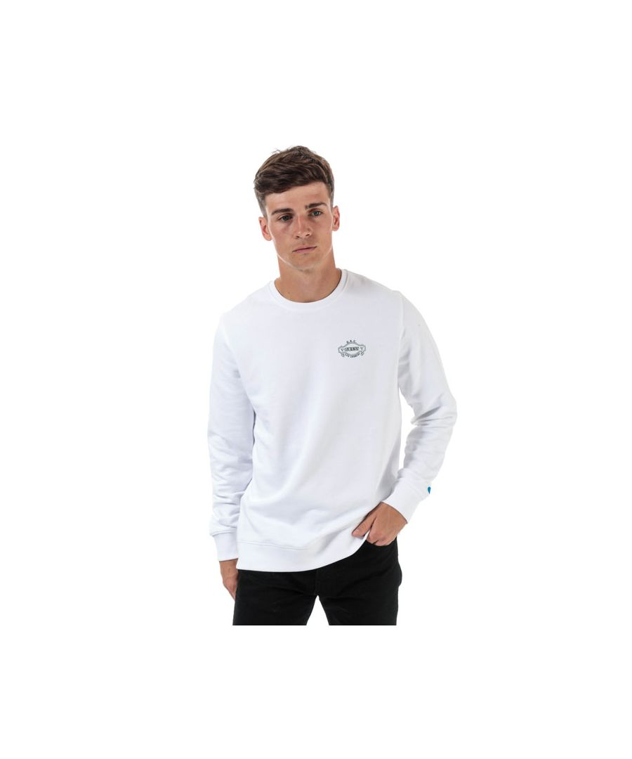 Image for Men's Guess Breana Crew Sweatshirt in White