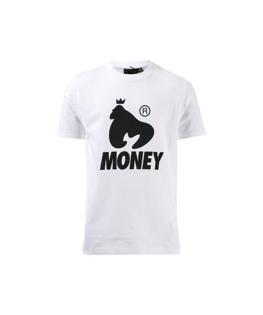 Image for Boy's Money Junior Black Label Logo T-Shirt in White