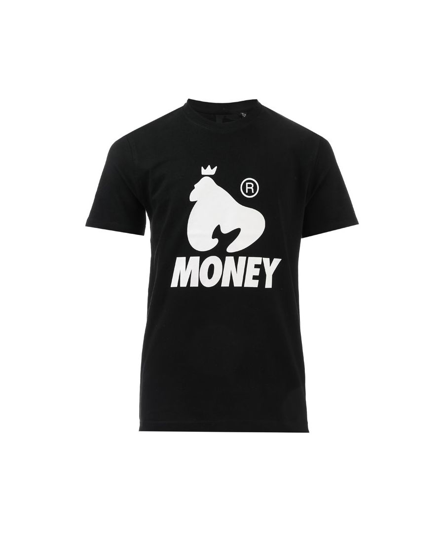 Image for Boy's Money Junior Black Label Logo T-Shirt in Black