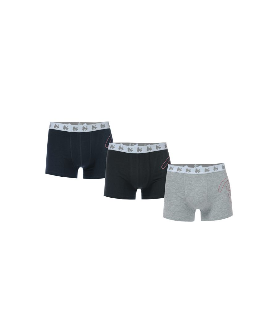 Image for Boy's Money Black Label 3 Pack Boxer Shorts in Navy