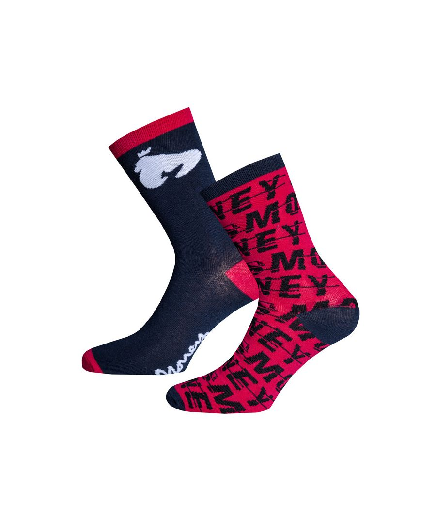 Image for Boy's Money Black Label Fashion 2 Pack Socks in Red