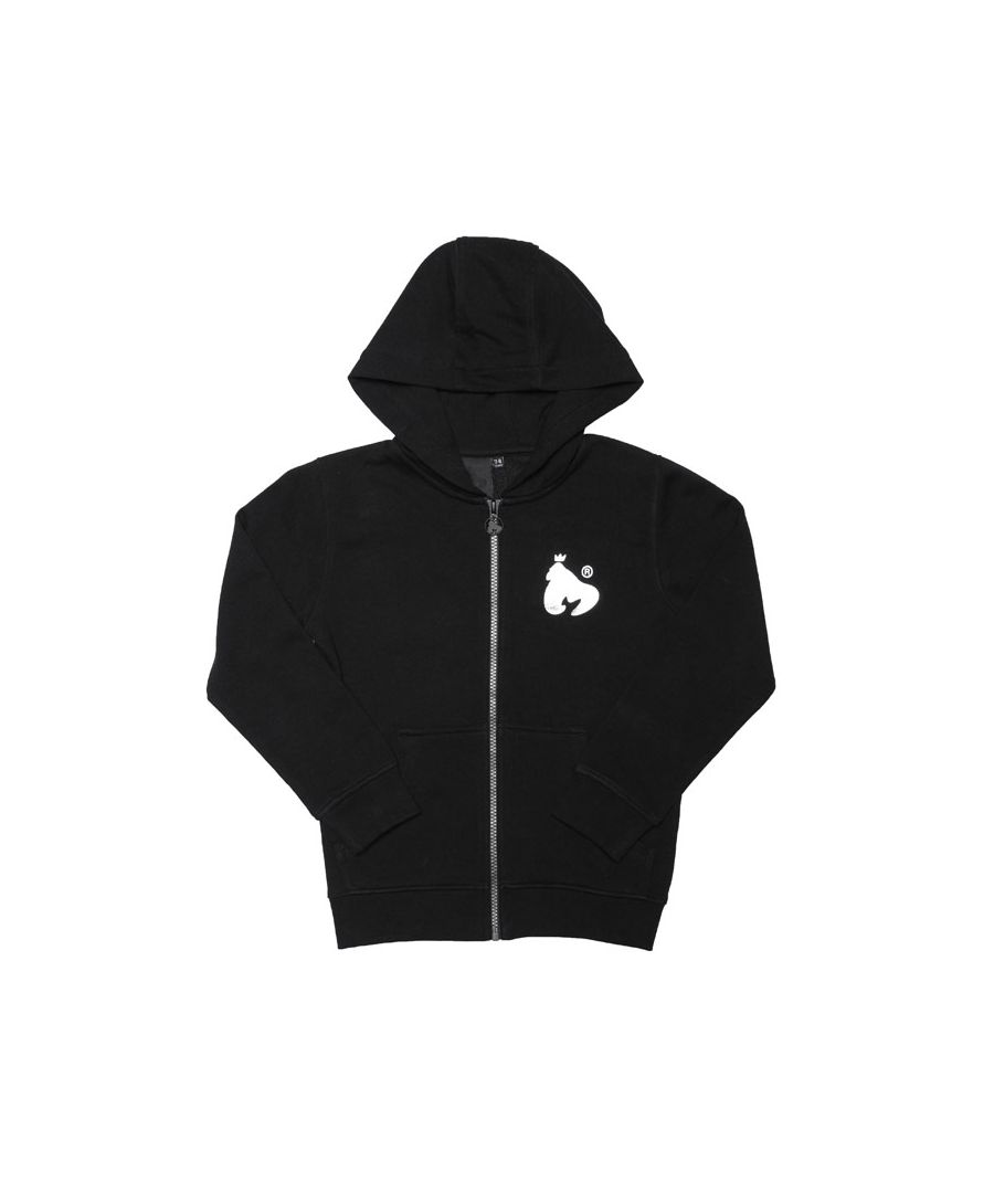 Image for Boy's Money Junior Block Signature Zip Hoody in Black