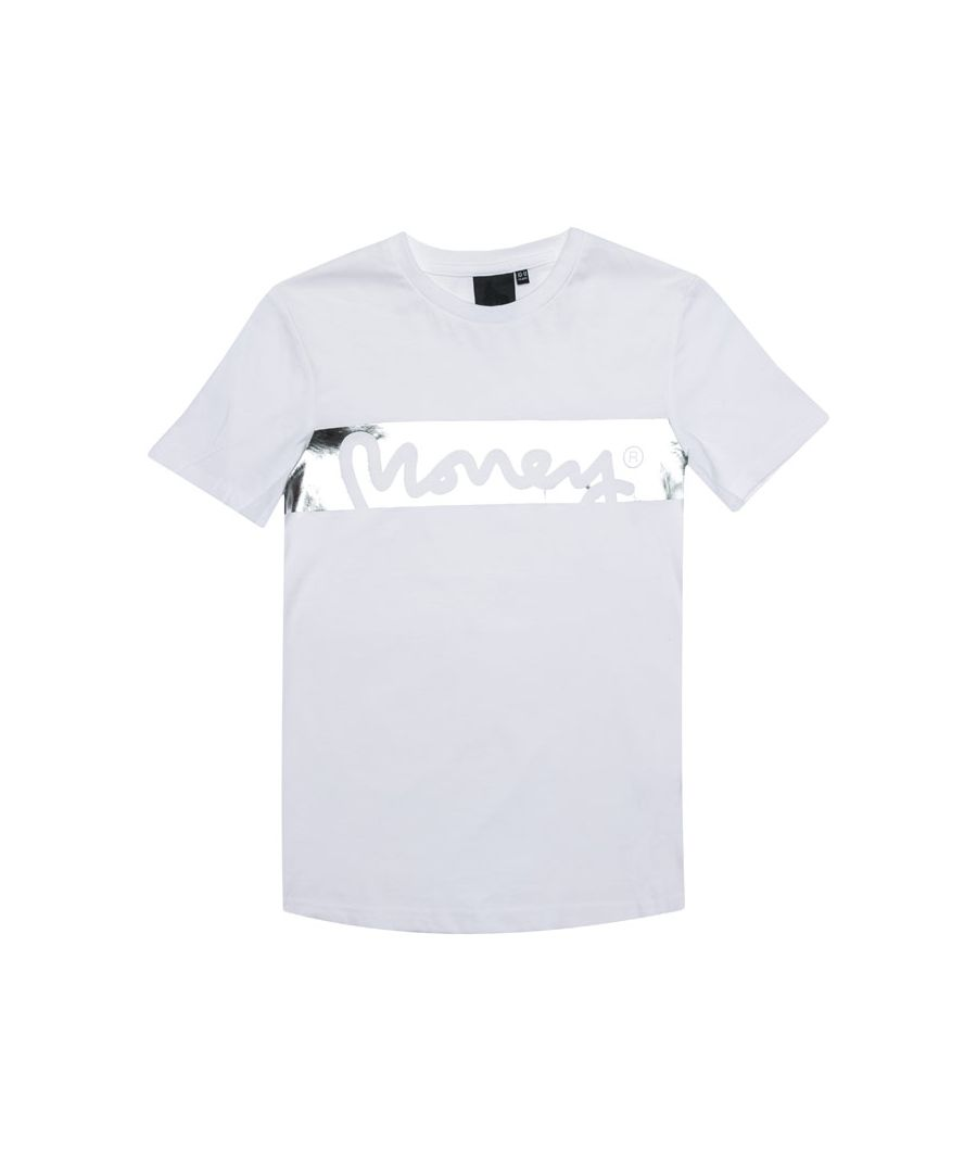 Image for Boy's Money Junior Block Sig T-Shirt in White