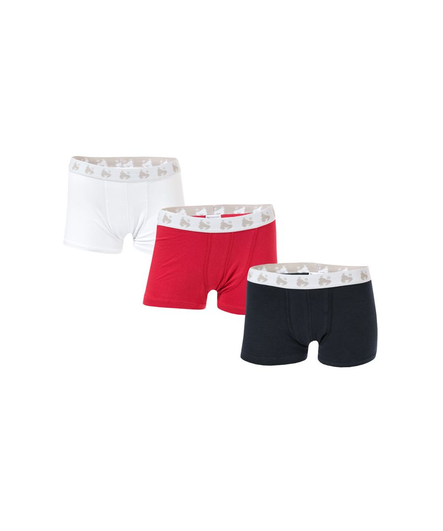 Image for Boy's Money Junior 3 Pack Boxer Shorts in Navy White Red