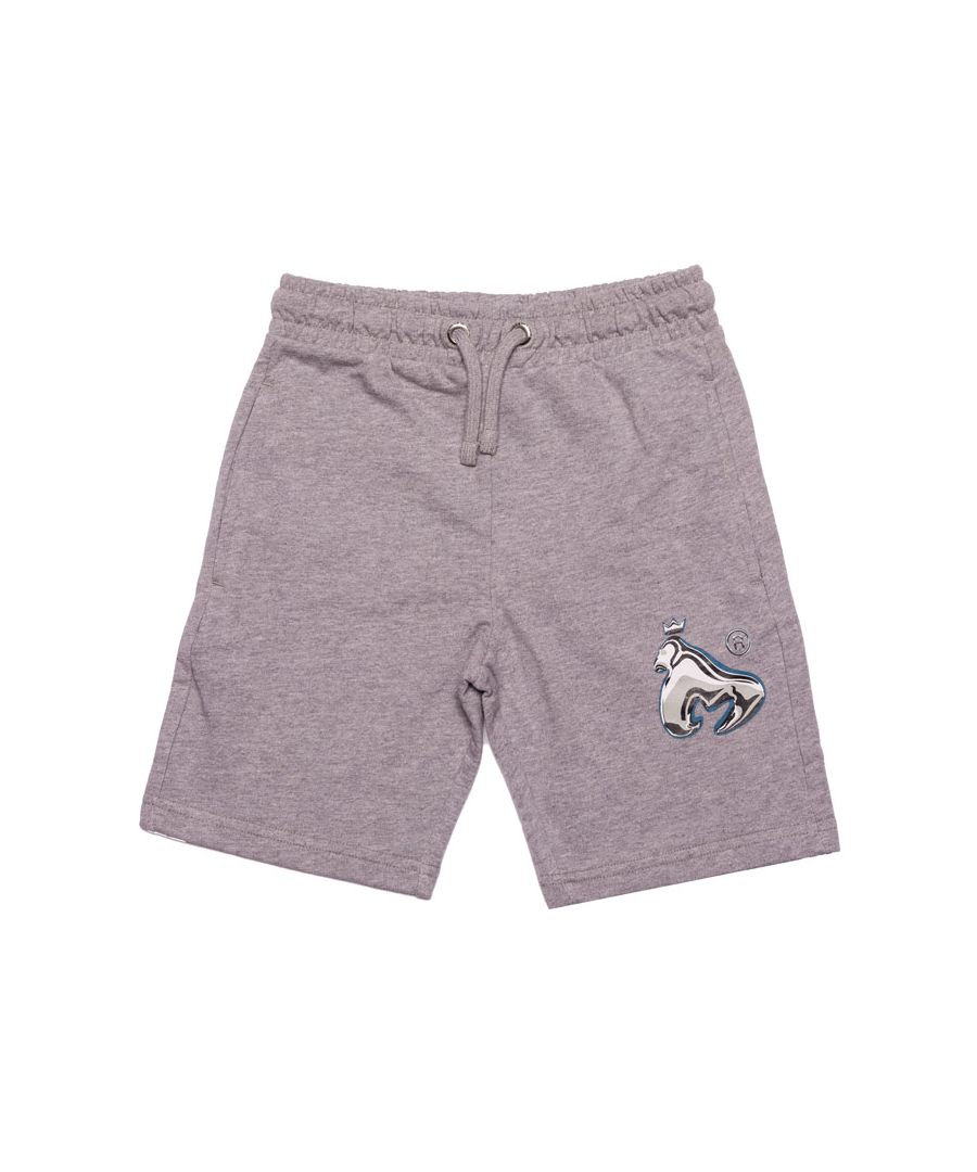 Image for Boy's Money Junior Chrome Ape Shorts in Grey Heather