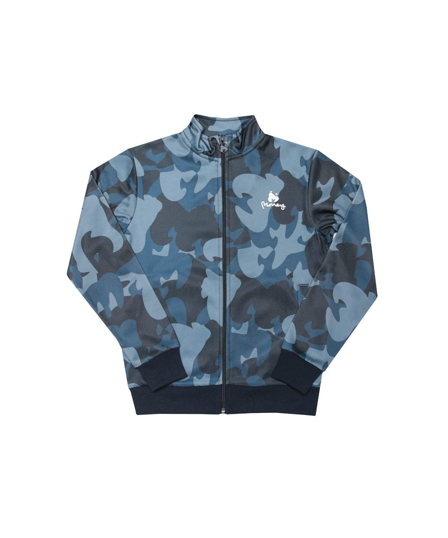 Image for Boy's Money Junior Ape Camo Track Top in Navy