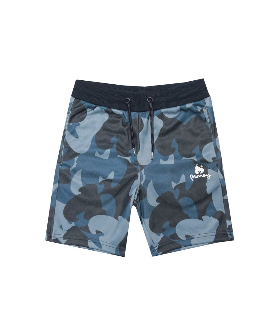 Image for Boy's Money Junior Ape Camo Track Shorts in Navy