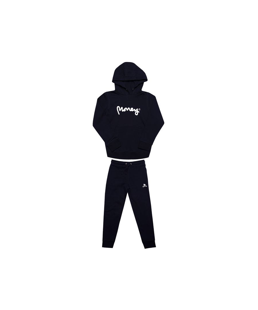 Image for Boy's Money Junior Black Label Tracksuit in Navy