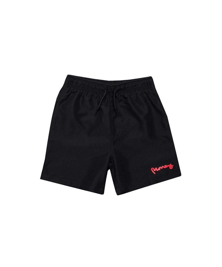Image for Boy's Money Junior Block Panel Swim Shorts in Black