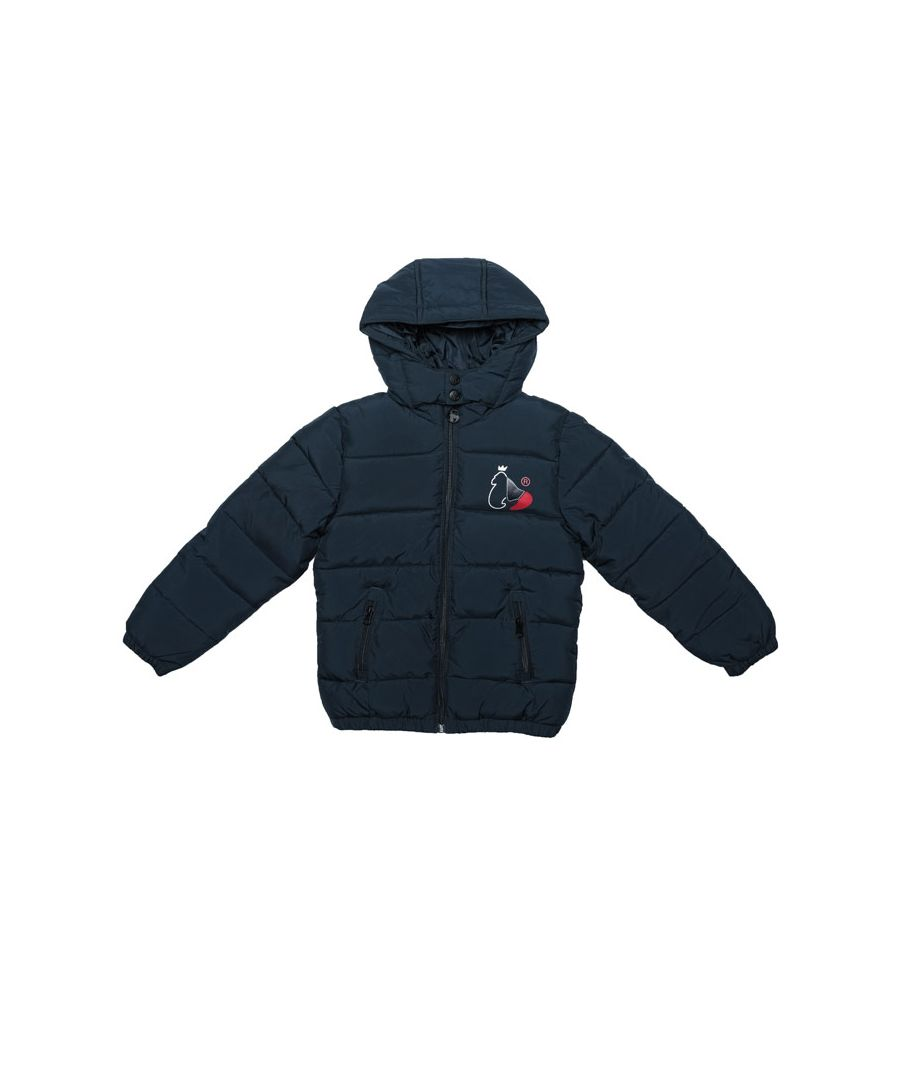 Image for Boy's Money Junior Tri King Ape Puffa Jacket in Navy