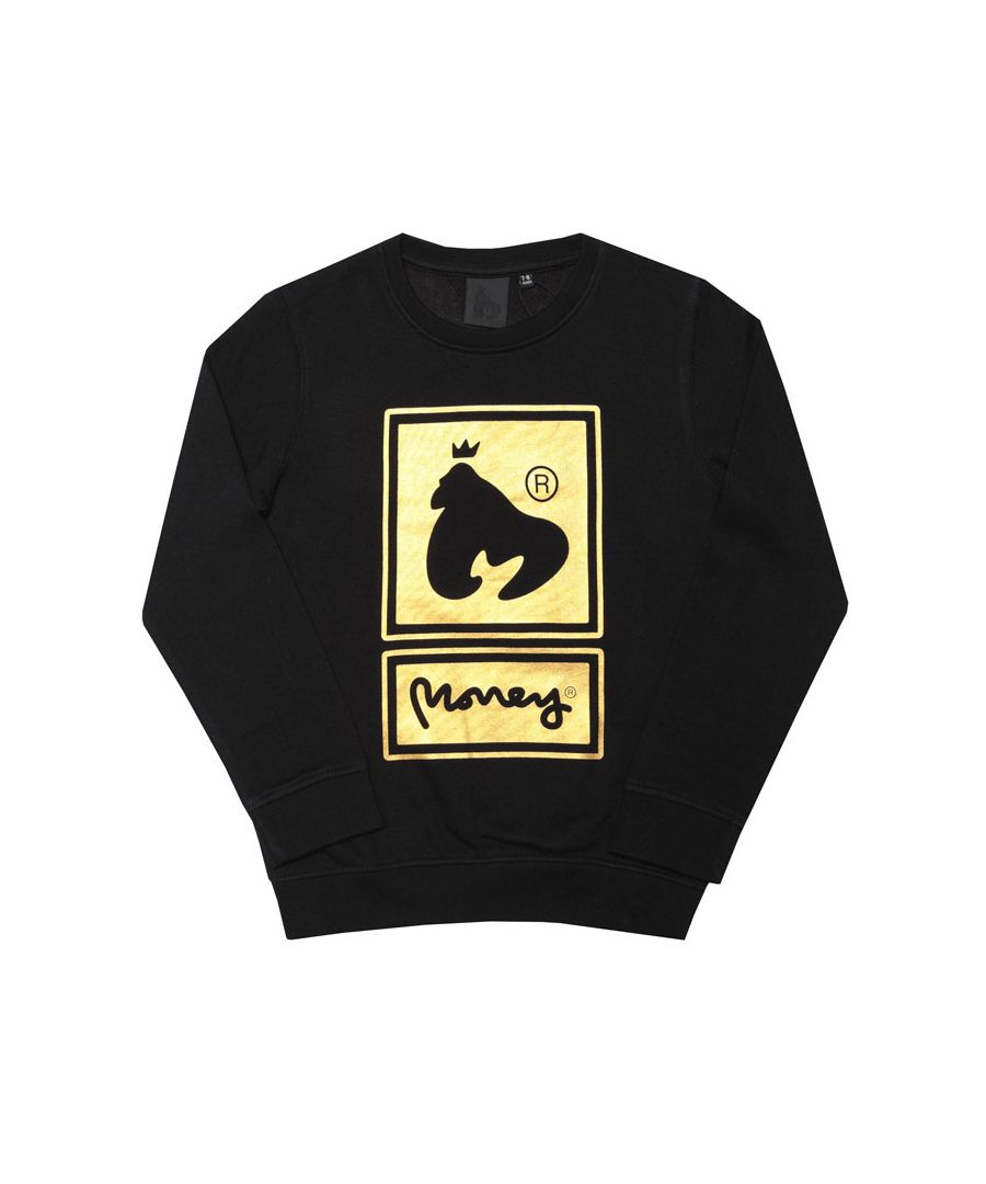 Image for Boy's Money Junior Superstar BB Crew Sweatshirt in Black