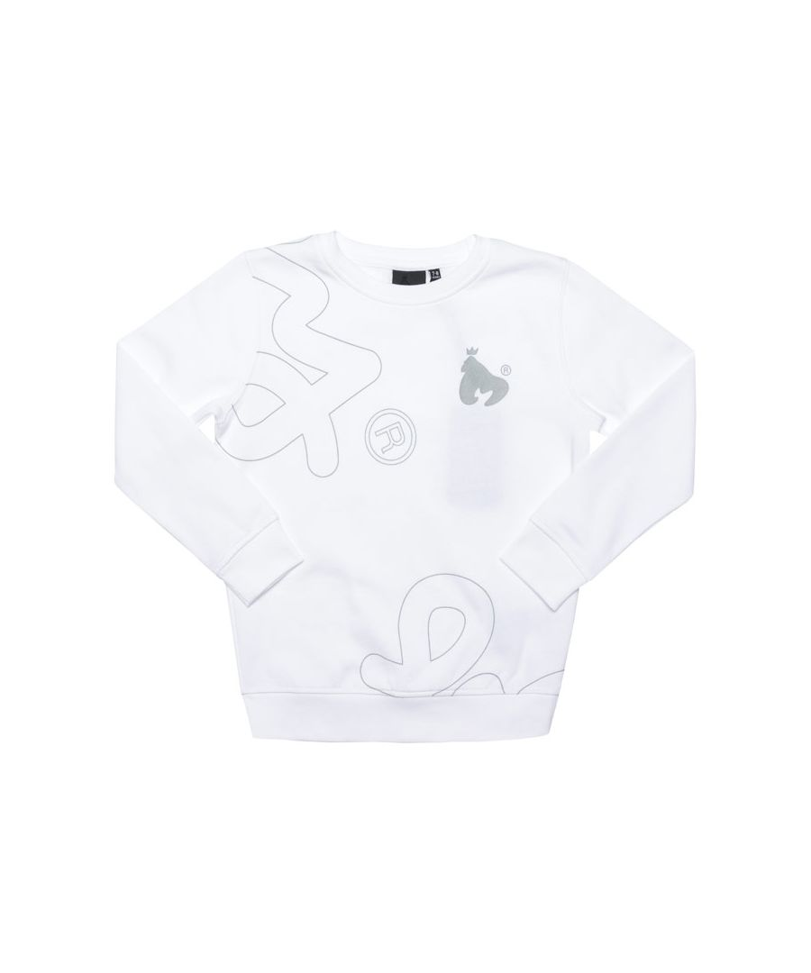 Image for Boy's Money Junior Massive Sig Crew Sweat in White