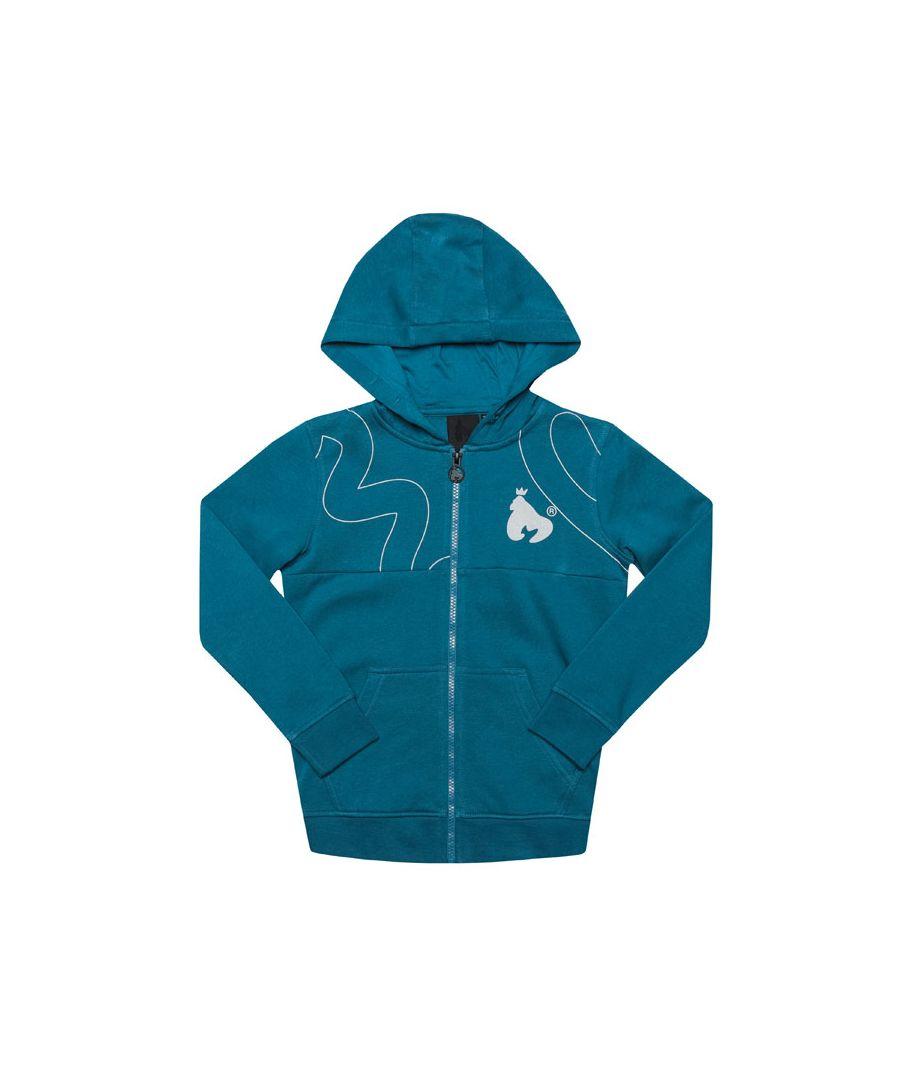 Image for Boy's Money Junior Massive Sig Zip Hoody in Blue