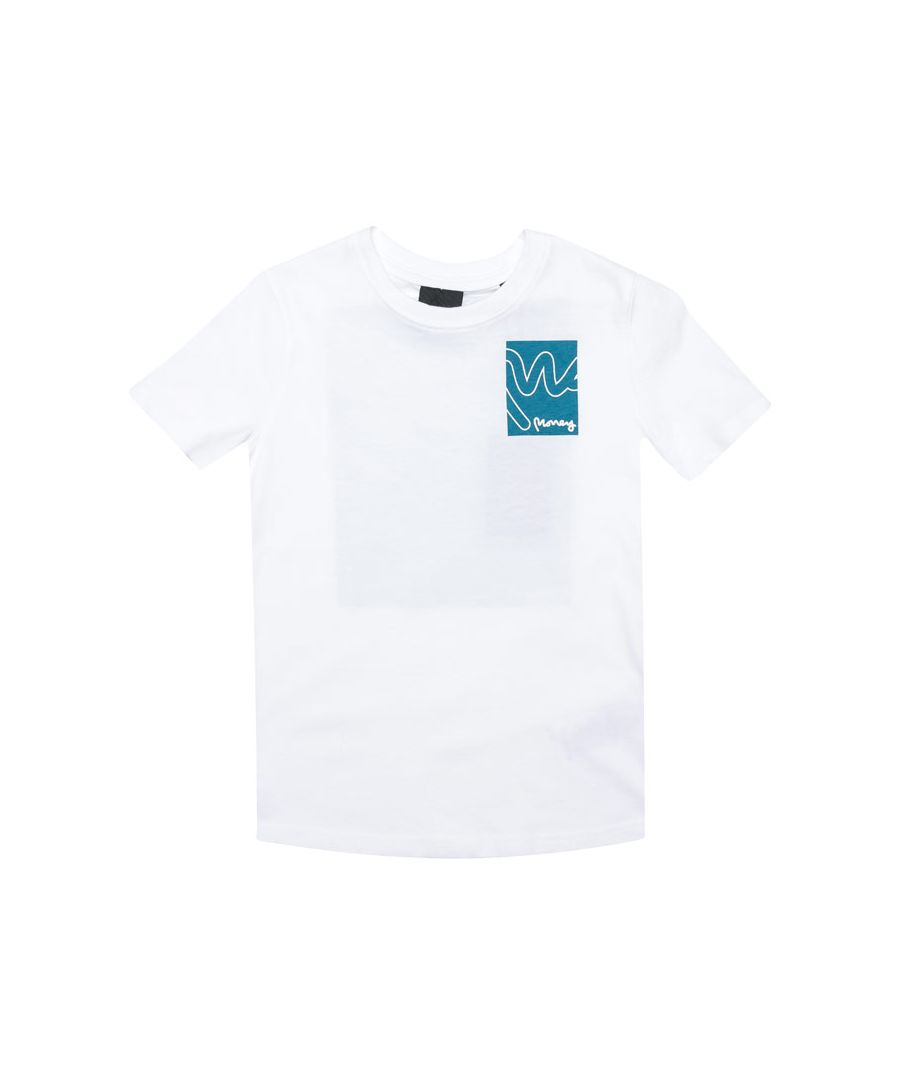 Image for Boy's Money Junior Box Sig T-Shirt in White