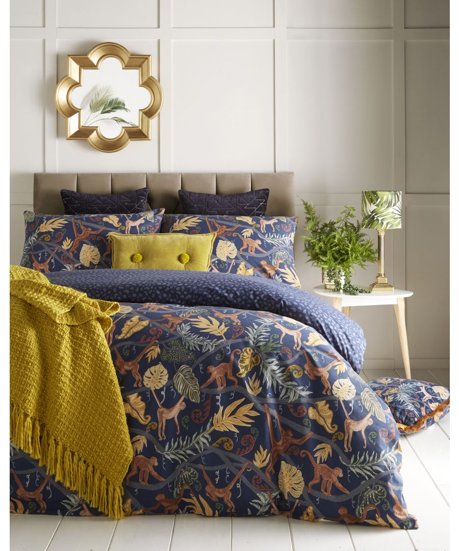 Image for Monkey Forest Duvet Set Midnight