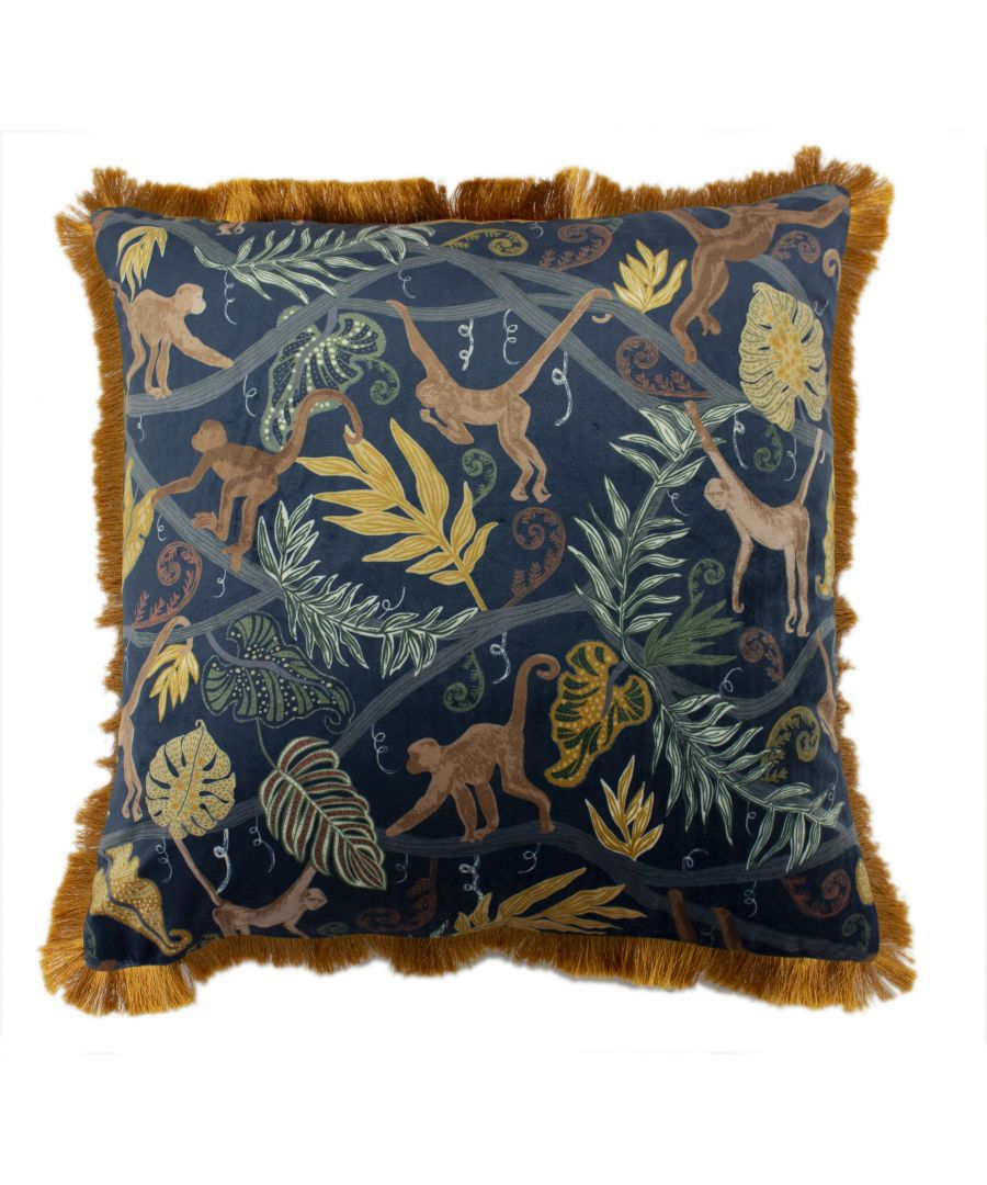 Image for Monkey Forest 50X50 PCushion Midnig