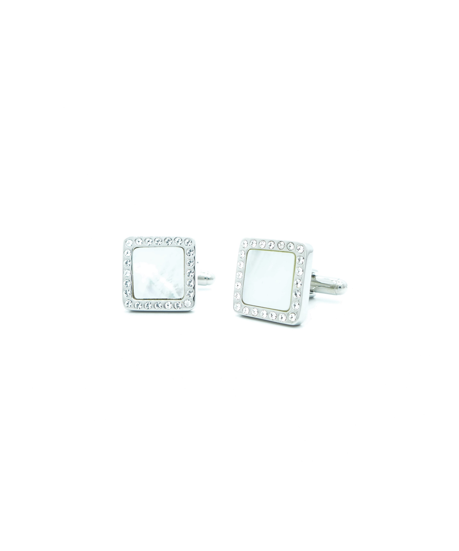 Image for Clear Swarovski Crystal edged MOP Square
