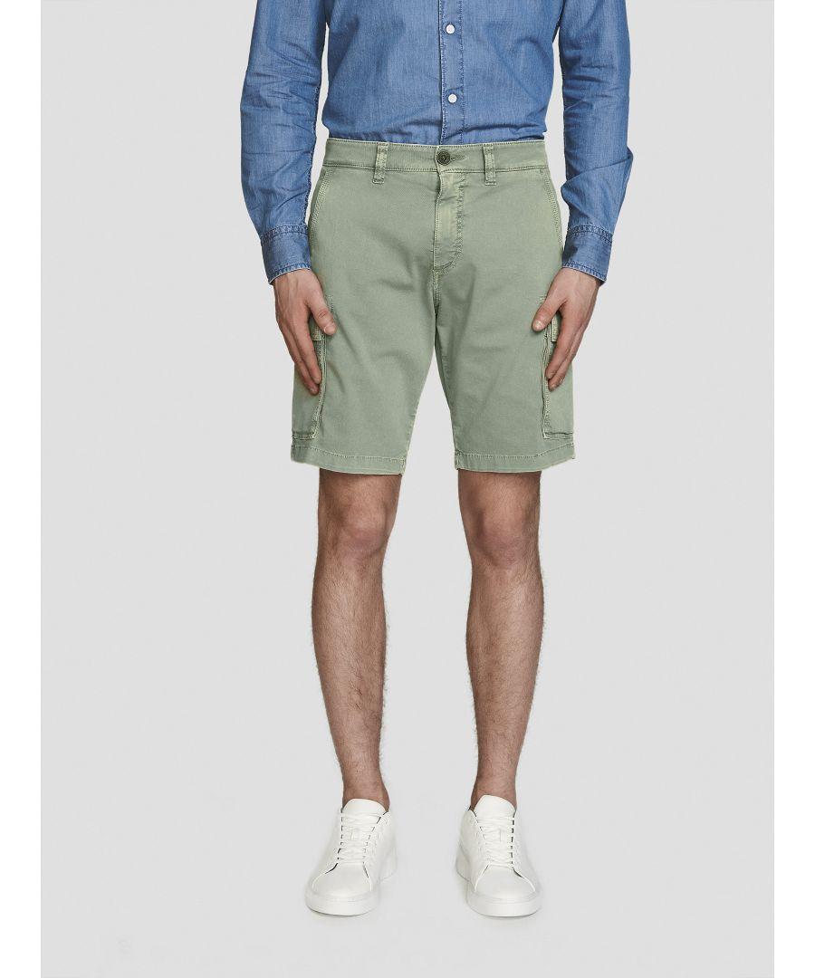Image for Gabardine Cargo Shorts