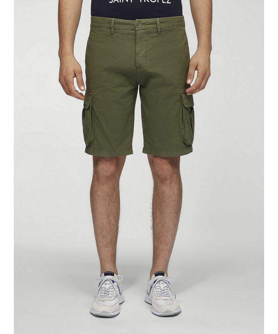 Image for Cotton Poplin Cargo Shorts