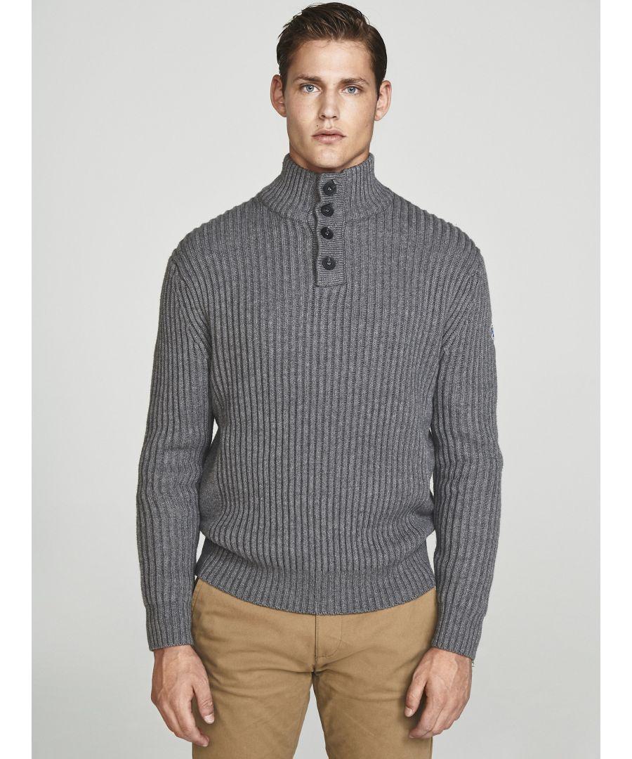Image for Half-Placket Wool Jumper