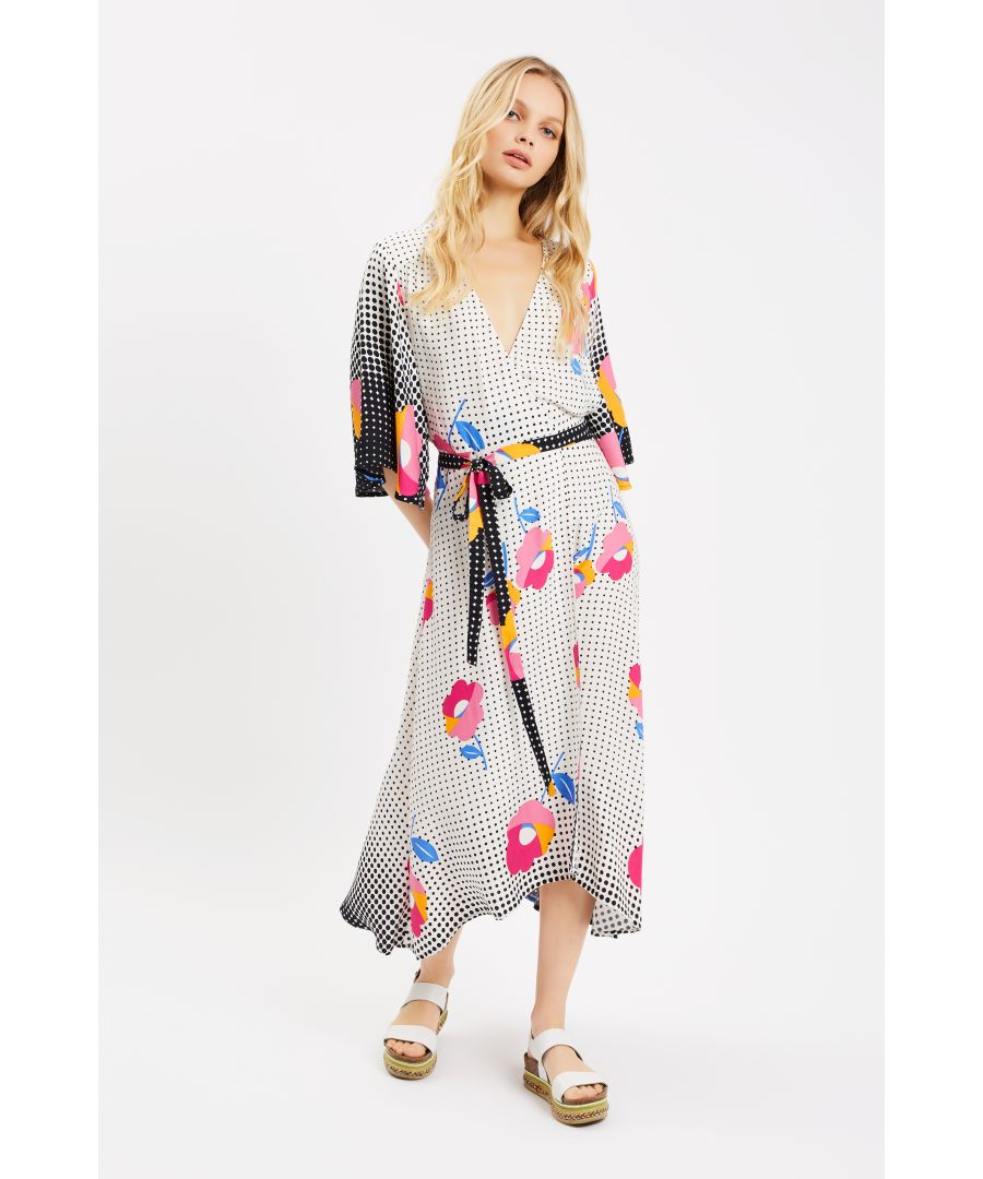 Image for Mary Mary Floral Maxi Wrap Dress in Multi