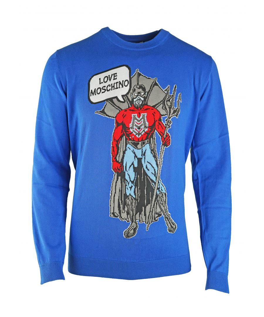 Image for Love Moschino Blue Jumper M S 2U0 00 X 0983 067