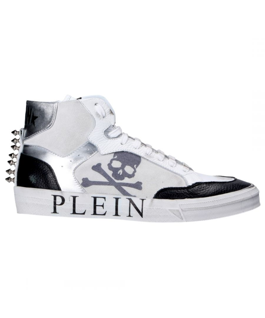 Image for Philipp Plein Retrokickz High Top Leather White Trainers