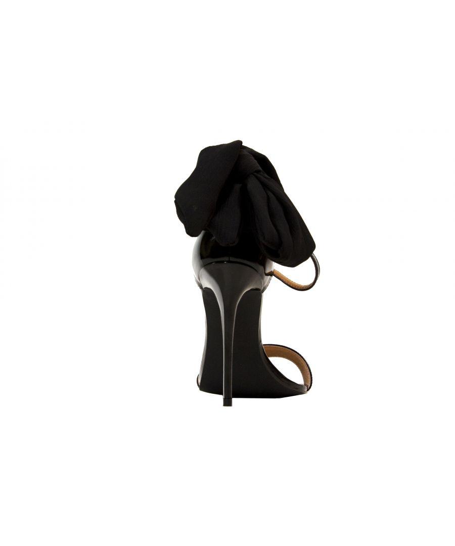 Image for Patent Black Gebria Heeled Leather Sandal