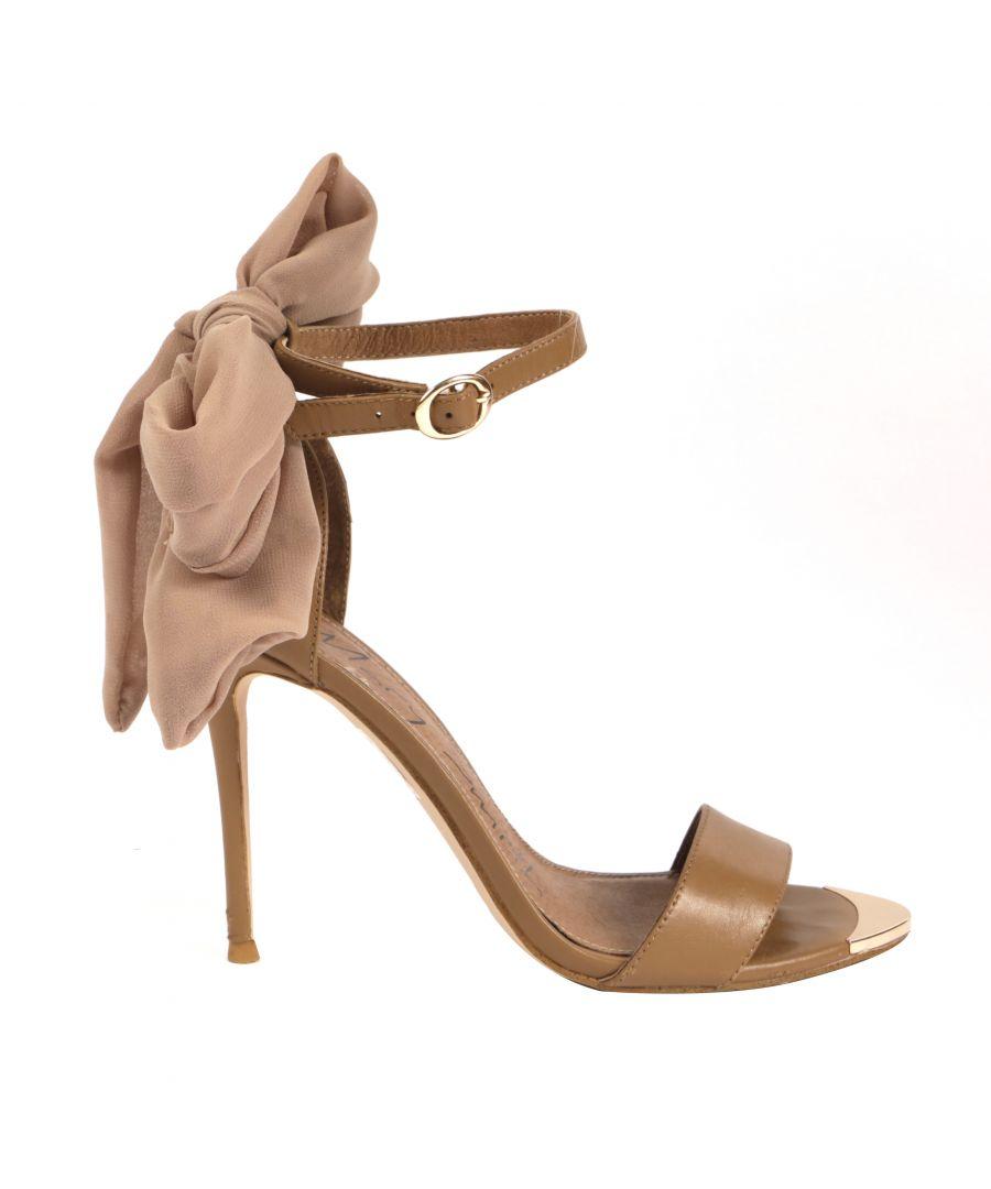 Image for Brown Gebria Heeled Leather Sandal