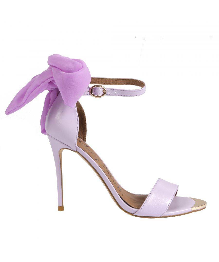 Image for Lilac Gebria Heeled Leather Sandal