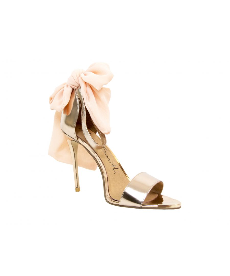 Image for Metallic Rose Gold Gebria Heeled Leather Sandal