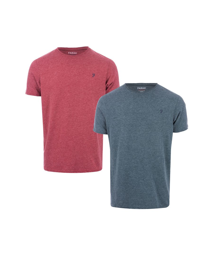 Image for Men's Farah Oakmont 2 Pack T-Shirts in Green