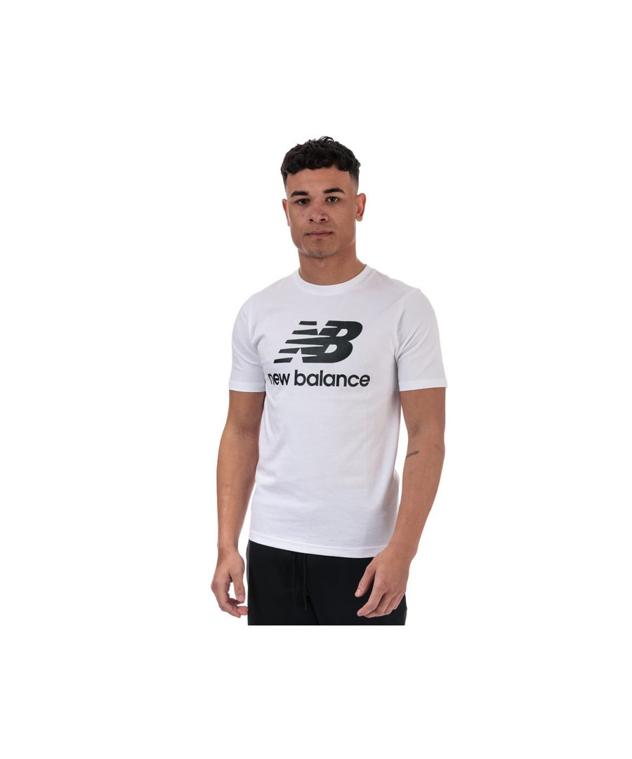 Image for Men's New Balance Essentials Stacked Logo T-Shirt in White