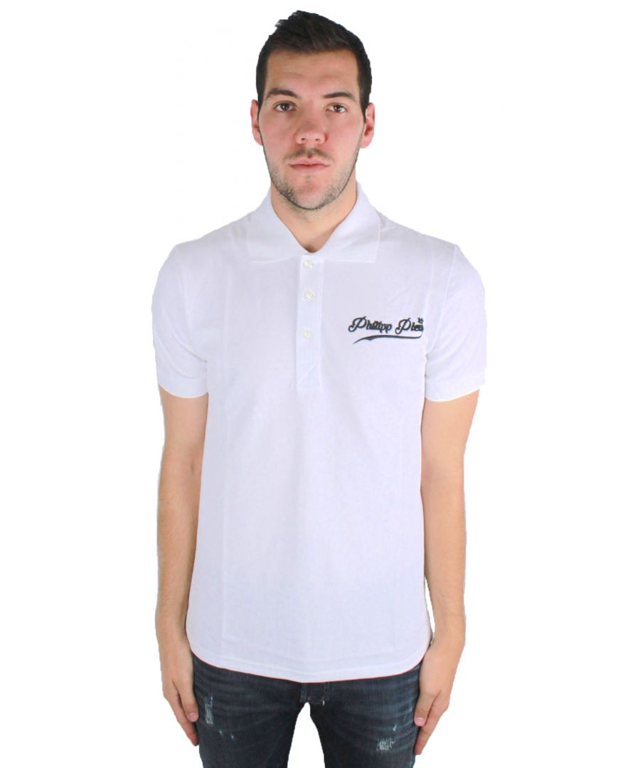 Image for Philipp Plein Fine MTK0052 0102 Polo Shirt