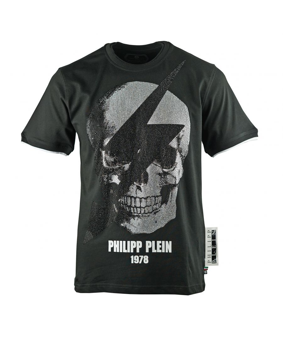 Image for Philipp Plein Round Neck Thunder MTK3332 02 T-Shirt