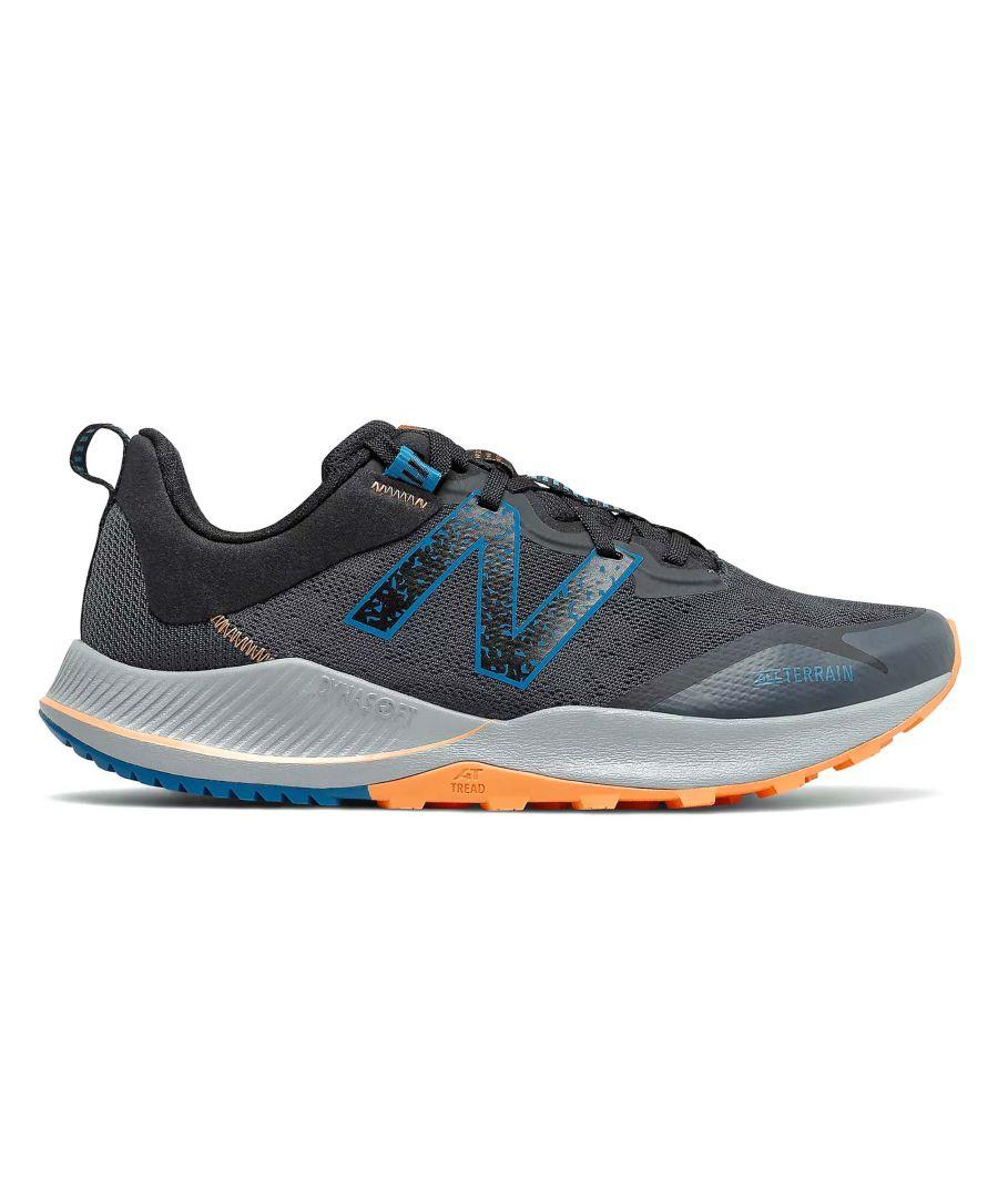 Image for New Balance Nitrel v4 Mens Trail Running Shoe Grey/Black/Blue - UK 10