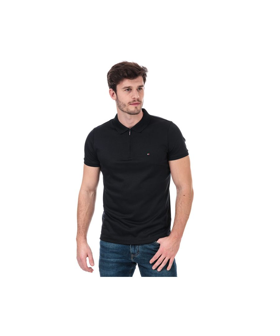 Image for Men's Tommy Hilfiger Zip Interlock Polo Shirt in Navy
