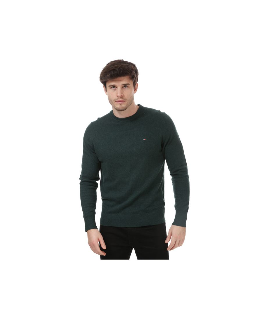 Image for Tommy Hilfiger Men's Pima Cotton Cashmere Crew Neck Jumperin Green