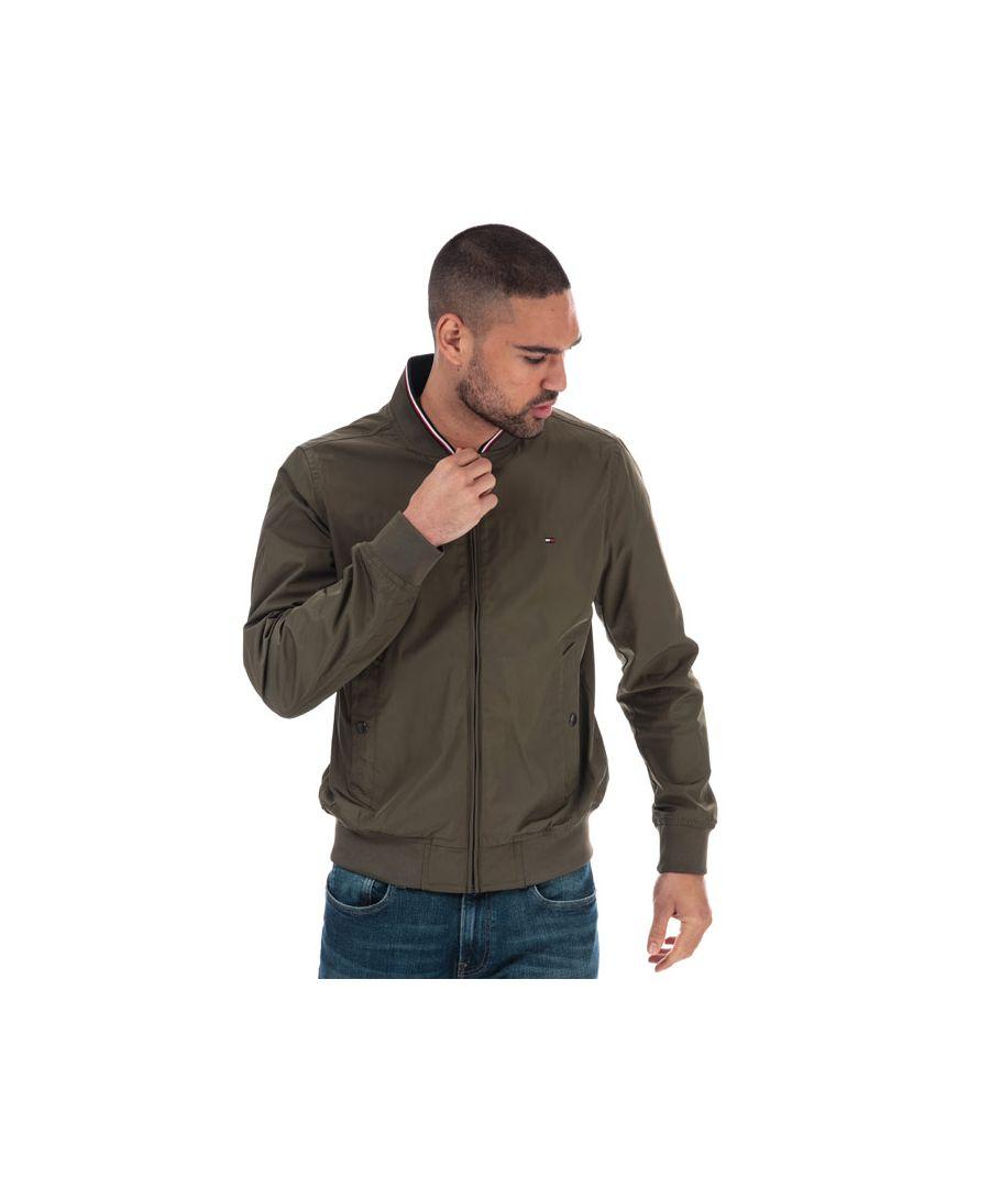 Image for Men's Tommy Hilfiger Reversible Bomber Jacket in Green