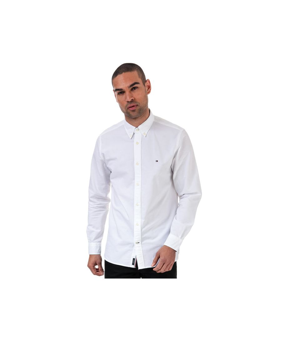 Image for Men's Tommy Hilfiger Contrast Trim Organic Cotton Shirt in White